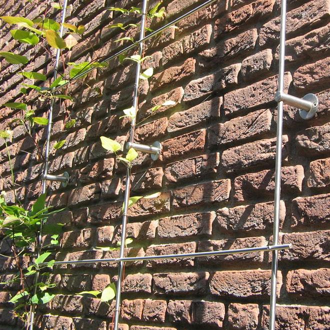 Fassadenbegrünung-stahlgitter